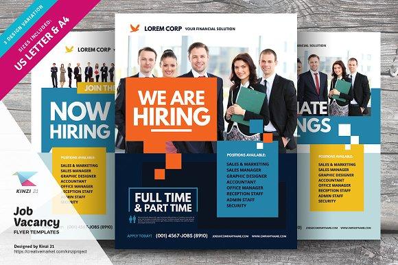 job vacancy flyer templates flyer templates creative market