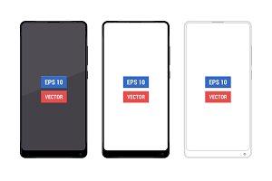 Realistic mock-up Xiaomi Mi Mix 2