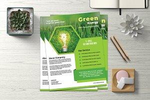 Green Energy Flyer - V844