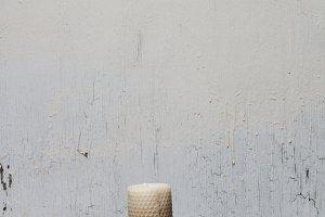 Minimalist Beeswax Candle