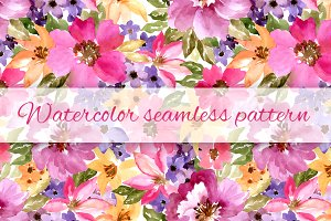 Watercolor floral pattern