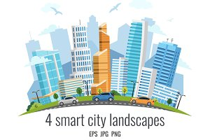 4 smart city landscapes