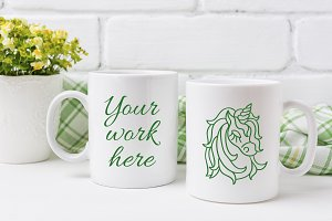 Two coffee mug mockup