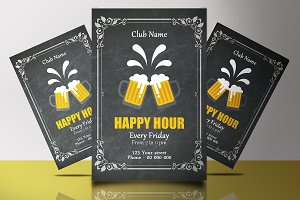 Happy Hour Flyer V846