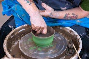 Throwing wheel, pottery, ceramics