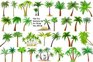 Palm Tree Illustrative Clip Art