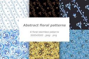 Abstract floral patterns set