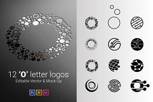 12 O Letter Logos - Vector & Mock-Up