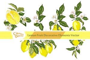 Lemon Vector Decor Elements