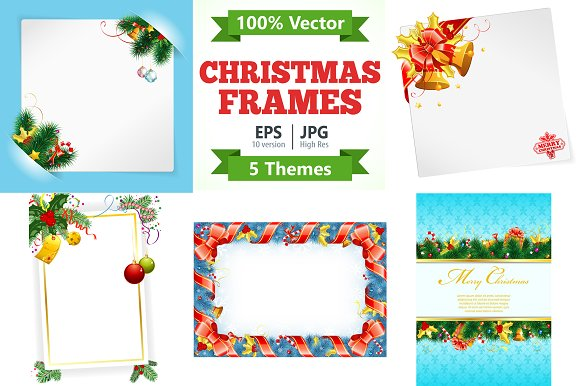 Christmas and New Year Frames ~ Illustrations ~ Creative Market