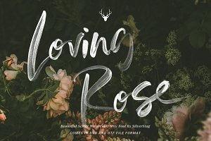 Loving Rose SVG Watercolor Font Pack