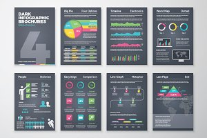 Infographic Brochure 4 Dark Version
