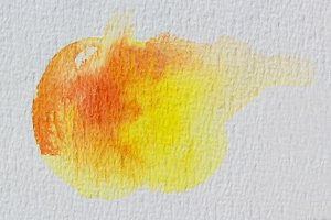 Yellow wet Watercolor Wash.