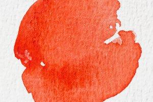 Orange wet Watercolor Wash.