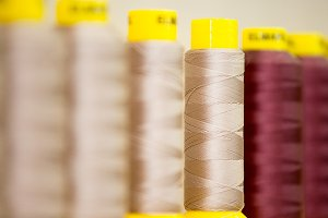 Spools of thread for sewing
