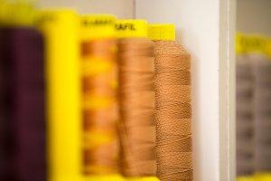Bobbins of sewing thread