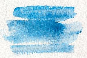 Blue wet Watercolor Wash