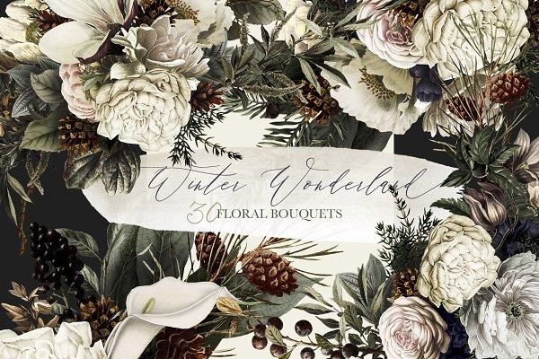 Winter Wonderland Floral Bouquets