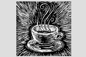 woodprint coffee cup