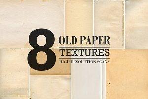 8 Old Paper Textures