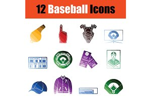 Baseballl icon set