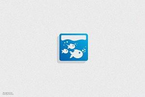 Fish Aquarium Logo