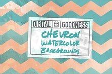 Chevron Watercolor Bkgrnds