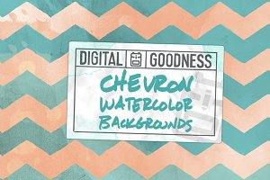 Chevron Watercolor Bkgrnds
