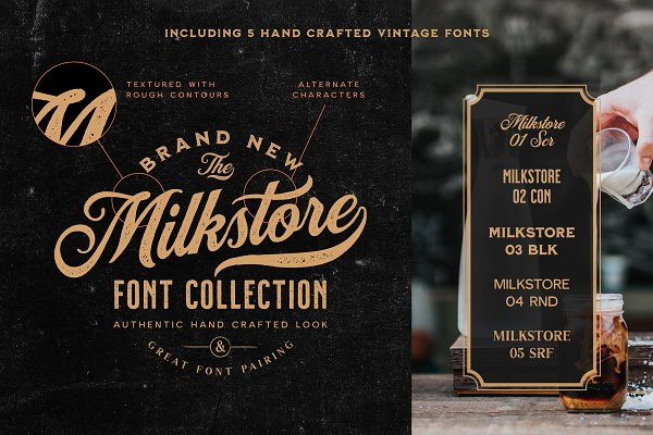 Milkstore Font Collection