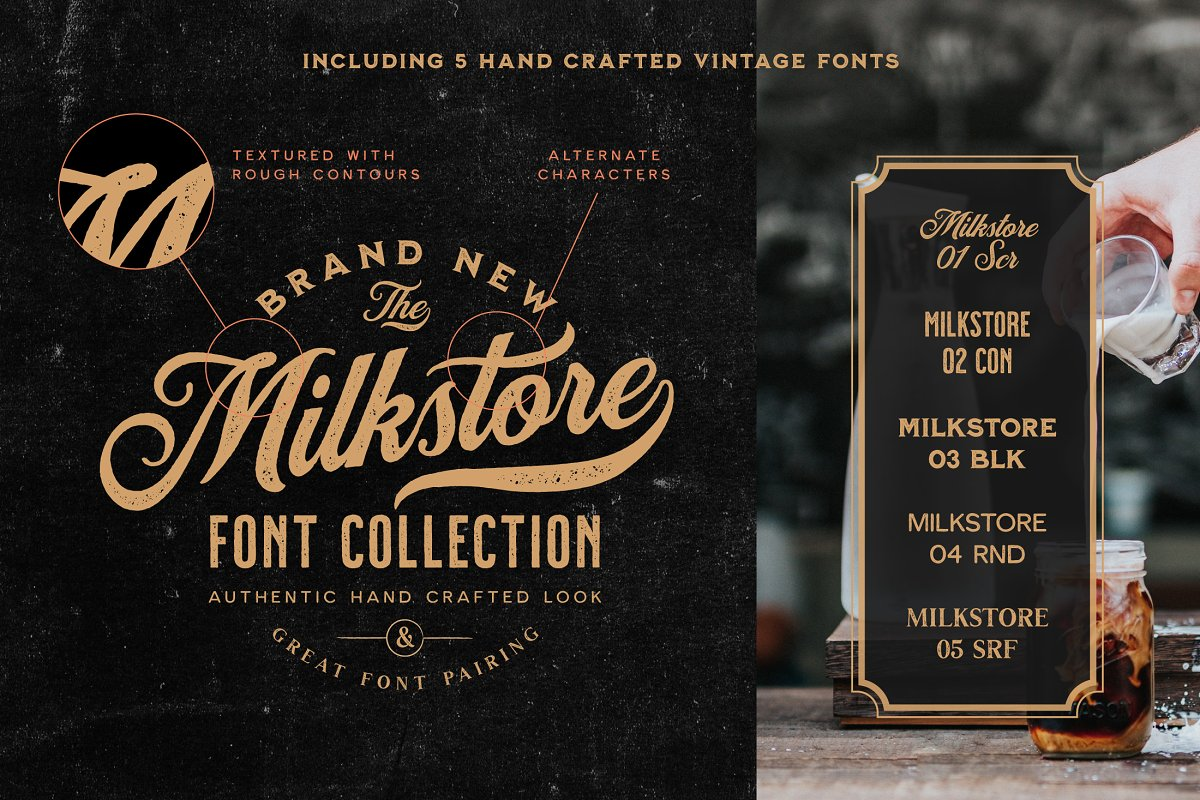 Milkstore Font Collection in Display Fonts - product preview 8