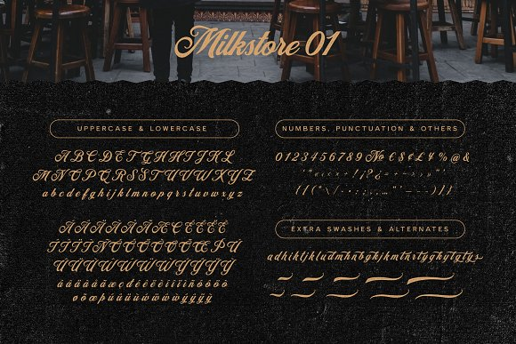 Milkstore Font Collection in Display Fonts - product preview 5