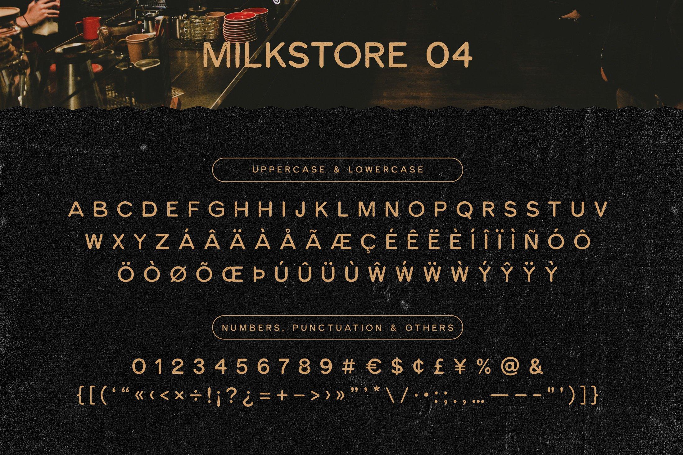 Шрифт – Milkstore