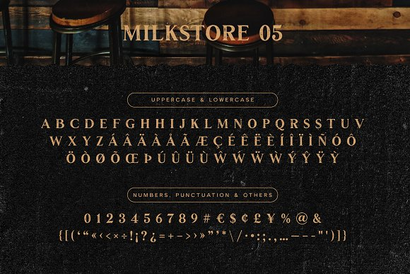 Milkstore Font Collection in Display Fonts - product preview 9