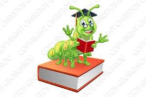 Book Worm Caterpillar Character