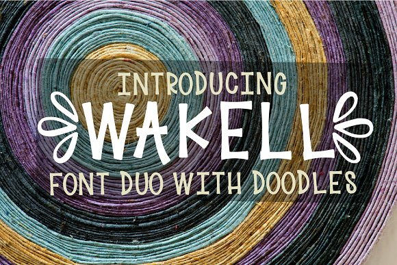 Wakell - Font Duo With Ornaments