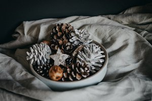 Rustic pinecone Christmas decoration