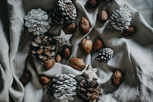 Rustic pinecone Christmas decoration