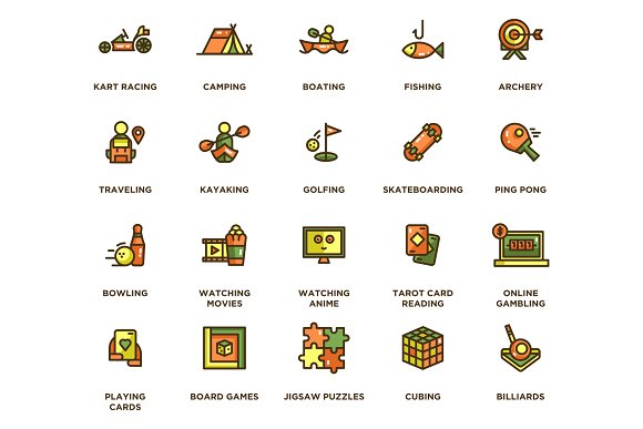104 Hobby Icons in Icons - product preview 4