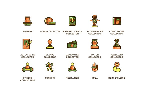 104 Hobby Icons in Icons - product preview 5