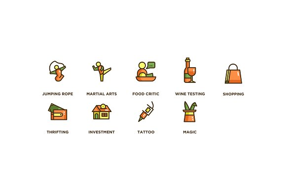 104 Hobby Icons in Icons - product preview 6