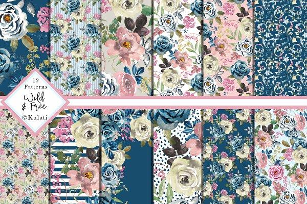 Romantic Floral Digital Papers