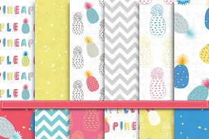 Pineapple Digital Paper Pack