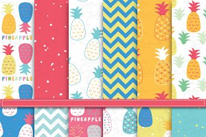Summer Pineapple Digital Paper