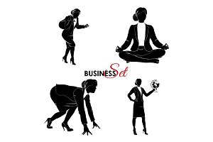 Business set. Businesswoman set.