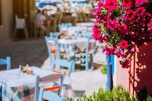 Traditional Greek vivid colored