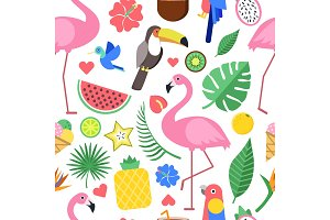 Seamless pattern with various