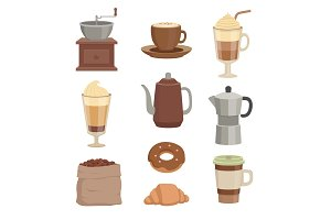 Vector illustrations for cafe