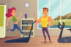 Girl on running track. Fitness