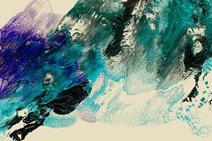 Abstract acrylic, watercolor paint