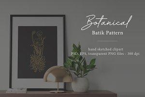 Botanical Batik Pattern Vol.1
